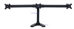 Triple Monitor Stand Free Standing Curved Arm