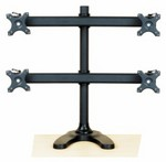 Quad Monitor Stand Free Standing Curved Arm