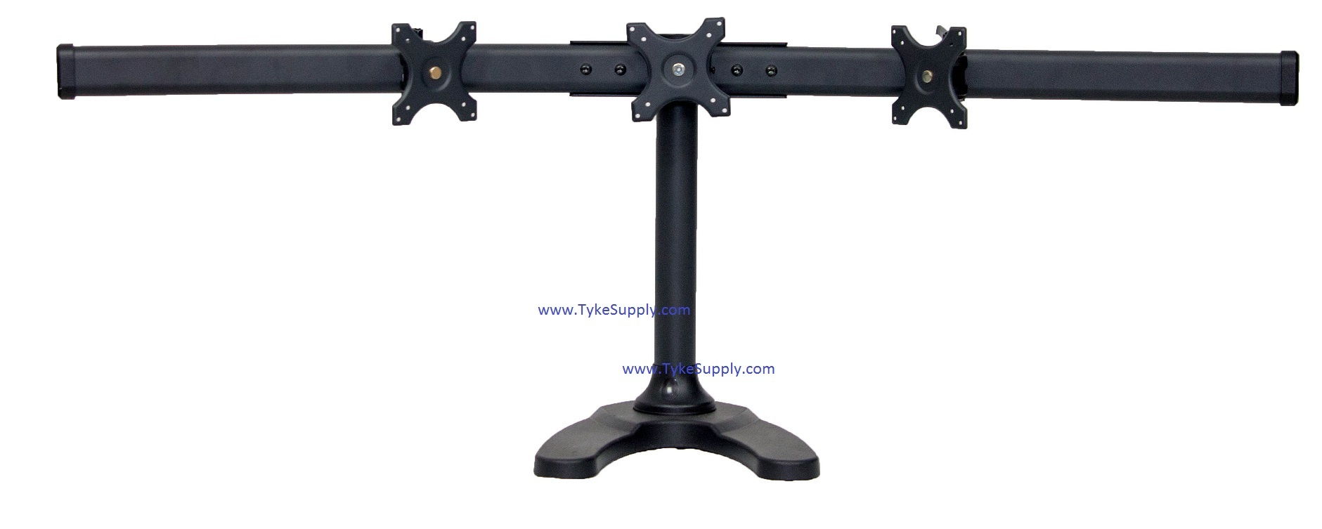Triple Free Standing Monitor Stand With Fixed Center Mount