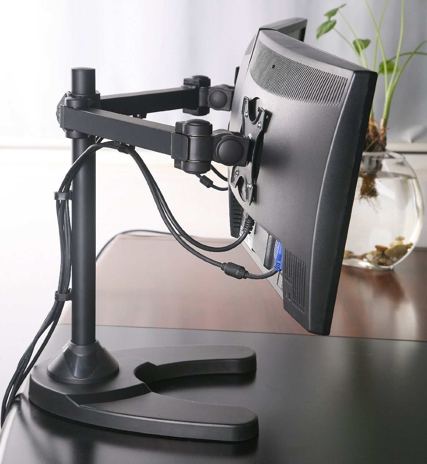 Tyke Supply Dual Monitor Stand Free Standing