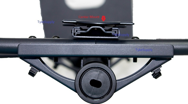 Triple Monitor Stand Curved Arm Flush Mount For Center