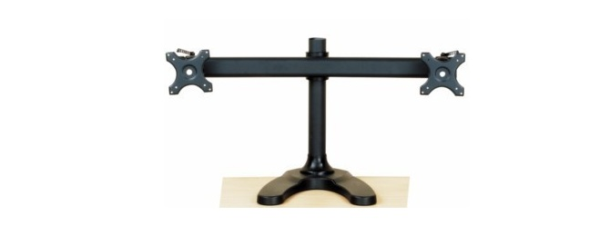 72B - Dual Monitor Stand Free Standing Curved Arm