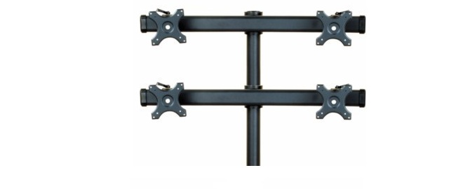 74A - Quad Monitor Curved Arm
